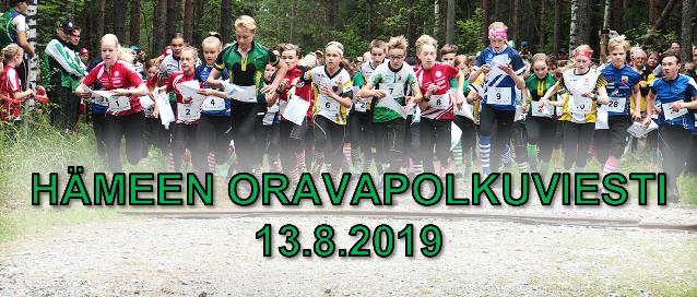 Hämeen Oravapolkuviesti 13.8.2019