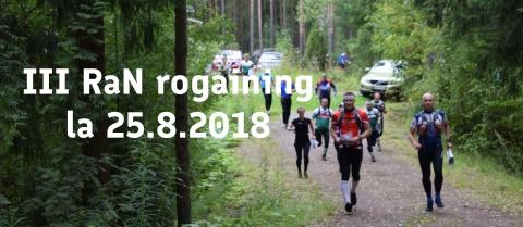 Kolmas RaN Rogaining la 18.8.2018