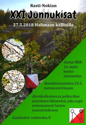 21. Junnukisat 27.5.2018 Halimaan kallioilla